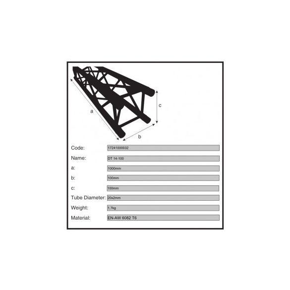Duratruss DT 14-100 1 m-es traverz elem
