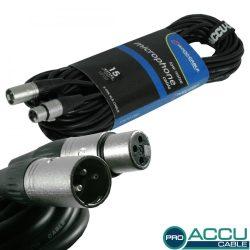 AC-PRO-XMXF/15 XLR m/f 15m - professzionális mikrofon kábel