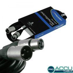AC-PRO-XMXF/3 XLR m/f 3m - professzionális mikrofon kábel